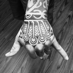 Hawaiian tattoo design on hand
