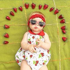 9m Strawberry sun suit by NooksDesign on Etsy