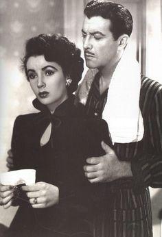 "Elizabeth Taylor and Robert Taylor in ""Conspirator"" 1949"