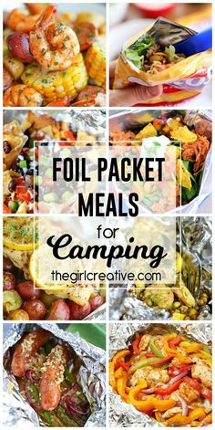 these delicious foil packet meals for camping on your next camping trip. Great ideas to change up your summer menu too!Try these delicious foil packet meals for camping on your next camping trip. Great ideas to change up your summer menu too! Foil Packet Dinners, Foil Pack Meals, Foil Packets, Tin Foil Dinners, Foil Packet Recipes, Camping Ideas For Couples, Camping With Kids, Family Camping, Camping Dinner Ideas