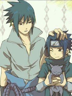 Sasuke and Itachi Naruto And Sasuke, Gaara, Naruto Uzumaki, Anime Naruto, Baby Sasuke, Naruto Team 7, Naruto Fan Art, 5 Anime, Sarada Uchiha