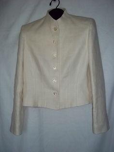 Ralph Lauren Ivory Linen Jacket Blazer NWOT Size: 10  #LaurenRalphLauren #Sixbutton