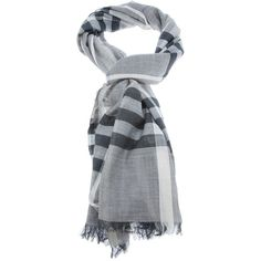 BURBERRY nova check scarf ($445) ❤ liked on Polyvore