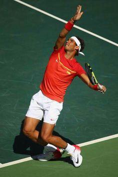 Rafa Nadal. Brazil, Rio de Janeiro 2016 Tennis Rafael Nadal, Nadal Tennis, Tennis Games, Tennis Tips, Rafa Nadal, Sports Figures, Tennis Players, Beautiful People, Handsome