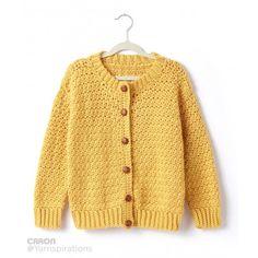 Child's Crochet Crew Neck Cardigan