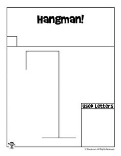 Hangman Game (4 x 6 Laminated Write and Wipe Game Board