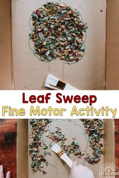 Here is a fun fine motor activity to try this fall! With just a few simple supplies, children can work on hand-eye coordination, pencil grasp and other important fine motor skills. Forest School Activities, Fine Motor Activities For Kids, Toddler Learning Activities, Montessori Activities, Infant Activities, Classroom Activities, Preschool Activities, Kids Learning, Autumn Activities For Kids