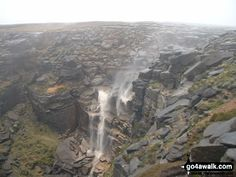 Walk Picture/View: Kinder Downfall on Kinder Scout in The Dark Peak Area, The Peak District, Derbyshire, England by Mike Kinsey (1)