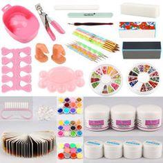 Nail tech gel, acrylic, nail art full combo kit from missliplash.net Nail Kits, Gel Nail Kit, Gel Nails, Nail Tech, Lamps, Nail Designs, Art, Gel Nail, Lightbulbs