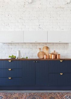 If your kitchen is in dire need of a refresh, the perfect place to start is with new cabinets that will instantly update your look. Here are 11 styles that will spice up your kitchen and give it a much-needed facelift. #hunkerhome #kitchen #kitchencabinets #kitchencabinetupdates #kitchencabinetideas Dark Wood Kitchen Cabinets, Kitchen Cabinet Hardware, Kitchen Cabinet Colors, Kitchen Decor, Cabinet Doors, Ikea Cabinets, Kitchen Ideas, Navy Cabinets, Hickory Kitchen