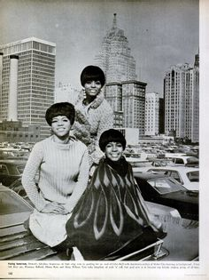 The Supremes are Tops~ Talented Detroit trio shakes up music world with talent ~ Article in Ebony Magazine Aug. 1966
