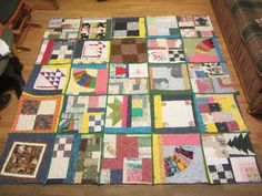 UBE quilt. Made from orphan blocks with solid sashing.