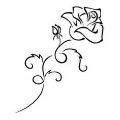 Simple Tribal Flower Tattoos