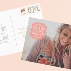 Post card save the date! Not necessarily this style of it, but the idea!