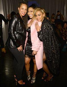 Alicia Keys, Nicki Minaj and Beyonce