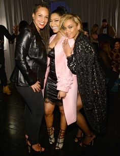 Alicia Keys, Nicki Minaj and Beyonce