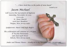 Baptism invitation wording samples and ideas for your baptismal baptism invite wording stopboris Image collections