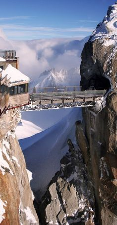 Du Midiin Chamonix, France, The Highest Point In Europe. The Aiguille Du Midi Cable Car Leaves From The Centre Of Chamonix. Places Around The World, The Places Youll Go, Travel Around The World, Places To See, Around The Worlds, Dream Vacations, Vacation Spots, Wonderful Places, Beautiful Places