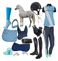 """""""Grey horse"""" by aligester on Polyvore featuring Ariat and Roeckl"""