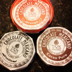 Healthy, Delicious, Dark Chocolate!  Great for the palette and your health! Stone ground Taza dark chocolate! Yummy!