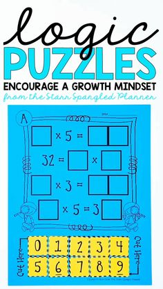 These sets of math logic puzzles will have kids begging for more! These fun and engaging brain teasers make great activities for math centers. Ranging from Number Recognition to Multiplication skills, these puzzle challenges are perfect for your fast finishers. They're also a great way to develop and encourage a growth mindset!
