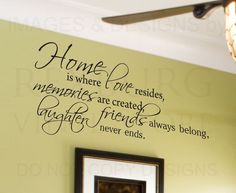 Wall Decal Quote Sticker Vinyl Lettering Home Is Where Love Resides ..., 800x655 in 295.7KB