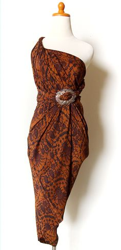 Indonesian Batik Dress, Long Skirt, Beach Wear, Multifunction