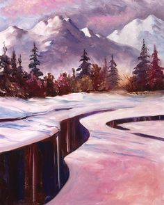 Winter River Patterns. oil on canvas by Teresa Ascone