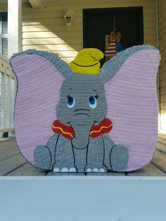 Hey, I found this really awesome Etsy listing at https://www.etsy.com/listing/241571037/dumbo-pinata-elephant-pinata-baby-first