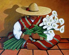 Lily Women Painting
