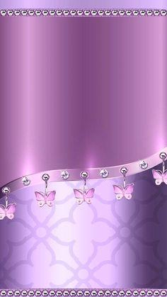 By Artist Unknown. Bling Wallpaper, Luxury Wallpaper, Wallpaper For Your Phone, Butterfly Wallpaper, Heart Wallpaper, Purple Wallpaper, Love Wallpaper, Cellphone Wallpaper, Screen Wallpaper