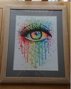 Modern Cross Stitch Kit By Carissa Rose 'Eye Candy'