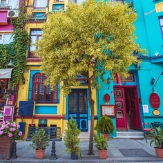 mexican house colors Balat-Estambul How To Buy A Good Sofa Your sofa seats your guests when you do s Turkey Photos, Colourful Buildings, Colorful Houses, Bohemian Decor, Belle Photo, House Colors, Beautiful Places, Colours, Colour Colour