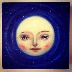 Moon ☾ illustration by Ankakus Sun Moon Stars, Sun And Stars, Moon Dance, Luna Moon, Vintage Moon, Moon Illustration, Paper Moon, Good Night Moon, Moon Magic