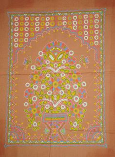Rogan Art, a rare 300-year old free hand textile art form little known even in India, is done by just one family in India!