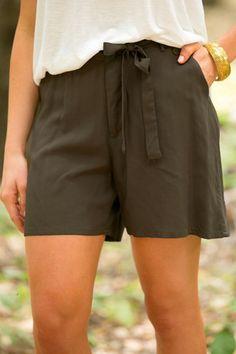 Charlize Tie Shorts | White Plum