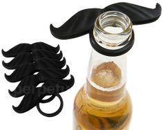 BEERMO BOTTLE MUSTACHES- BLACK 6 PACK