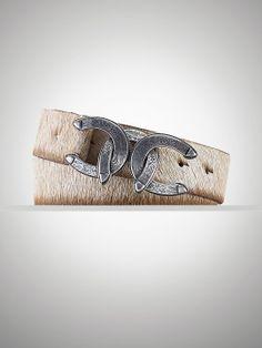 Triple-Horseshoe-Buckle Belt - Belts  Women - RalphLauren.com