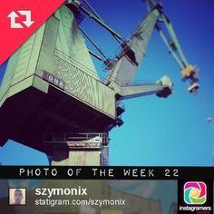 IgersGdansk Photo of the Week 22. Congratulations @szymonix. Igers keep tagging your photos #igersgdansk for your chance to be IgersGdansk Photo of the Week winner. #gdansk #igers #beautiful #pomorskie #gdynia #statigram #instagramers #igerspoland #poland #stocznia #crane #shipyards   (w: Stocznia Gdanska | Gdansk Shipyard)