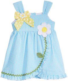 Bonnie Baby Seersucker Dress, Baby Girls
