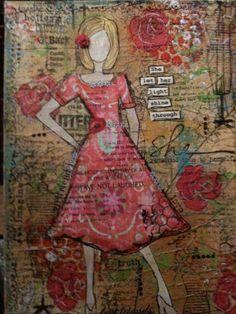 mixed media art on canvas
