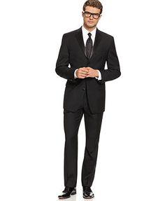 Calvin Klein Black Three-Button Tuxedo Slim Fit