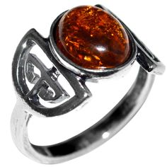 2.85g Authentic Baltic Amber 925 Sterling Silver Ring Jewelry s.9 A7436S9