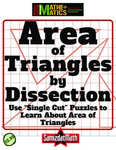 Area of Triangles: One Cut Geometry Challenges