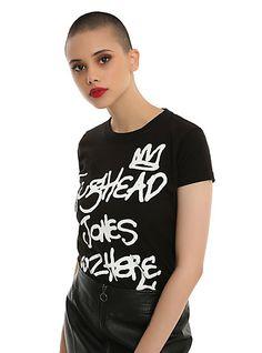 Riverdale Jughead Wuz Here Girls T-ShirtRiverdale Jughead Wuz Here Girls T-Shirt, BLACK