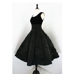 Vintage 50s Dress Suzy Perette Label Black by swingkatsvintage