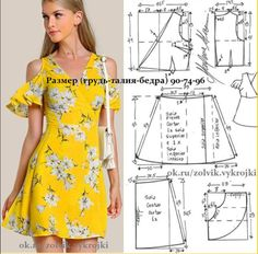 Enchanting Sewing Patterns Clone Your Clothes Ideas Fashion Sewing, Diy Fashion, Ideias Fashion, Moda Fashion, Diy Clothing, Sewing Clothes, Dress Sewing Patterns, Clothing Patterns, Costura Fashion