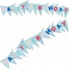 26ft Blue Happy Birthday Flag Bunting