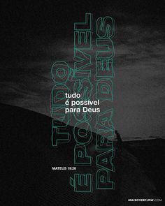 Everything is possible for God. on Inspirationde Church Graphic Design, Church Design, Graphic Design Posters, Typography Design, Lettering, Desing Inspiration, Christian Wallpaper, Social Media Design, Grafik Design