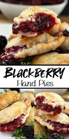 Just Desserts, Delicious Desserts, Yummy Food, Hand Pies, Blackberry Recipes, Blackberry Sauce, Pie Dessert, Dessert Recipes, Yummy Treats